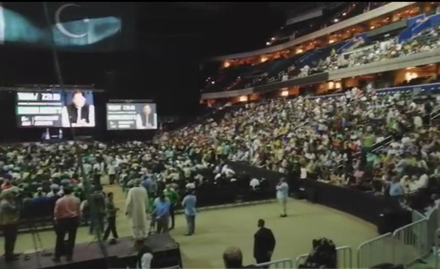کون بچائے گا پاکستان ،عمران خان عمران خان، ارینا اسٹیڈیم نعروں سے گونج اٹھا