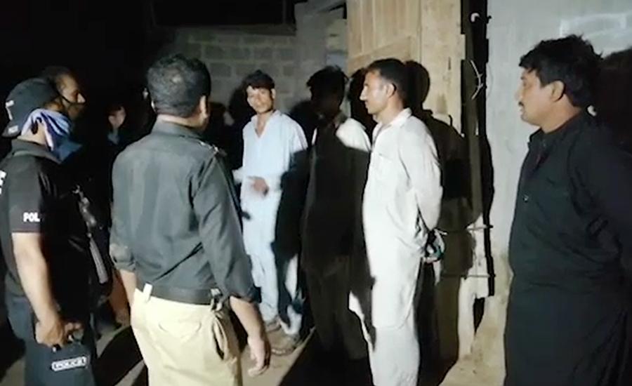 کراچی ، مختلف علاقوں میں سرچ آپریشن ، 13 مشتبہ افراد حراست میں لے لئے