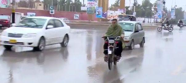 کراچی علاقوں ہلکی بارش موسم خوشگوار