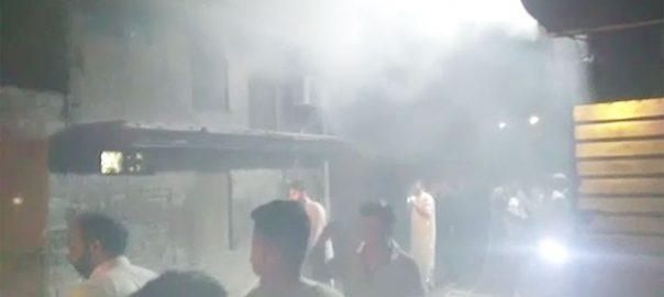 لاہور علاقے شادباغ گتہ فیکٹری آگ 4 گھنٹے قابو