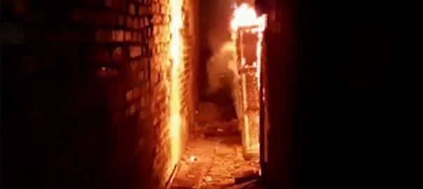 لاہور نسبت روڈ گھر آتشزدگی ریسکیو اہلکار چھت ملبے جاں بحق