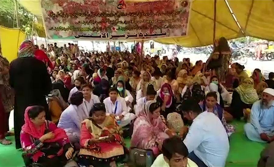 سندھ حکومت نے نرسنگ اسٹاف کے مطالبات تسلیم کر لئے