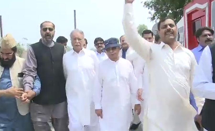 کوٹ لکھپت جیل میں نوازشریف سے مسلم لیگ ن کے ارکان قومی اسمبلی ملاقاتوں کے لئے پہنچے