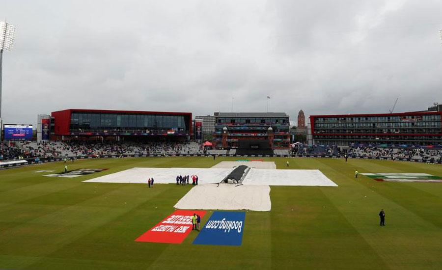 ورلڈ کپ کا پہلا سیمی فائنل بارش سے متاثر، نیوزی لینڈ اور بھارت کی ٹیمیں آج کھیل وہیں سے شروع کریں گی