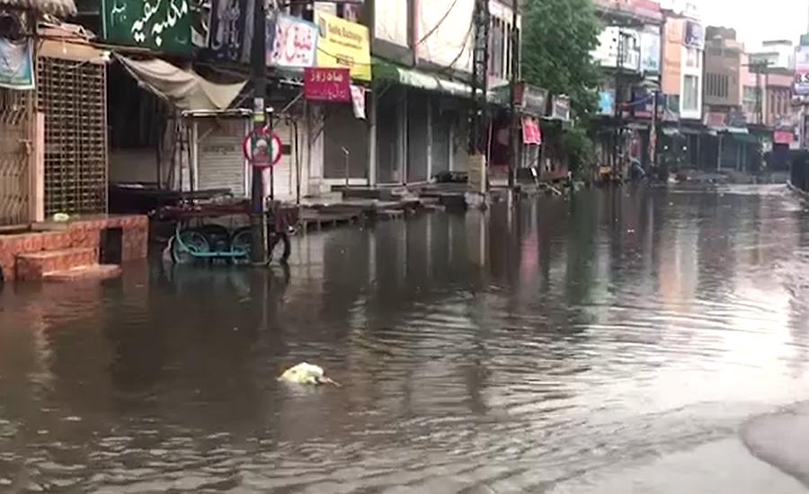 لاہور کے مختلف علاقوں میں وقفے وقفے سے بارش، موسم خوشگوار