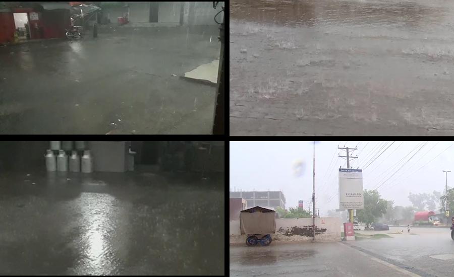 پنجاب کے مختلف شہروں میں بارش، لاہور میں بادلوں کا راج