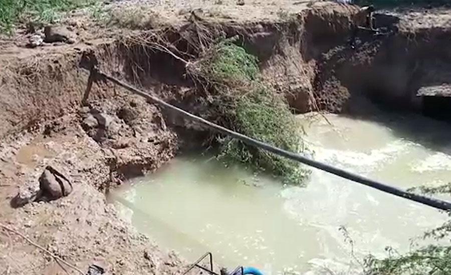 دھابیجی پمپنگ اسٹیشن پر بجلی کا بریک ڈاؤن، بیک پریشر سے 72 انچ قطر کی پائپ لائن پھٹ گئی