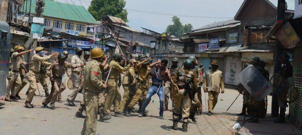 بھارتی فورسز  صحافیوں پرتشدد سرینگر نیٹ نیوز مقبوضہ وادی  کشمیر میڈیا سروس