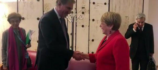 وزیر خارجہ انسانی حقوق کی کمشنر جنیوا  92 نیوز شاہ محمود قریشی  مچل بشلٹ