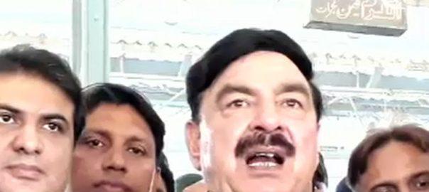 شکارپور ، وزیر ریلوے ، شیخ رشید ، پاک فوج ، قوم ، سرحدوں ، دفاع ، بھارت ، جارحیت ، منہ توڑ جواب
