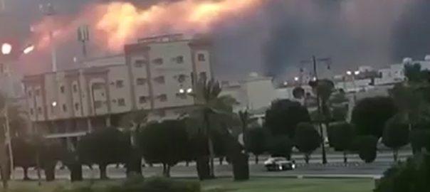 سعودی تیل تنصیبات ڈرون حملے امریکا ایران ریاض  92 نیوز مشرق وسطیٰ 