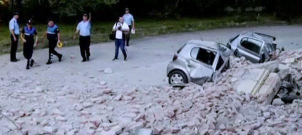 البانیہ ،زلزلہ،49 افراد زخمی،عمارتوں کو نقصان،تیرانا،92 نیوز