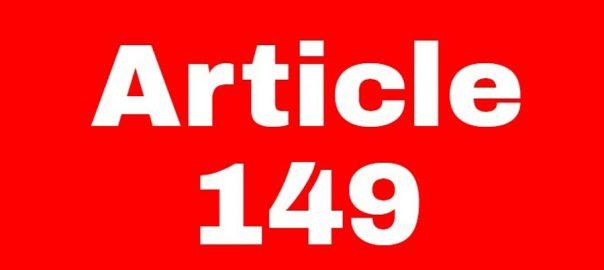 کراچی  آرٹیکل 149  کلاز فور  اسلام آباد  92 نیوز وفاق