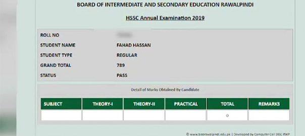 فیاض الحسن چوہان ، بیٹے ، امتحانی نتیجہ ، روکنے ، معاملہ، راولپنڈی بورڈ ، انکوائری ، شروع