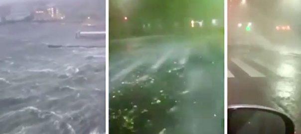 طوفان ،فائی ، جاپان، ، تباہی ، 30 افراد ،زخمی ، ٹو کیو ،92 نیوز