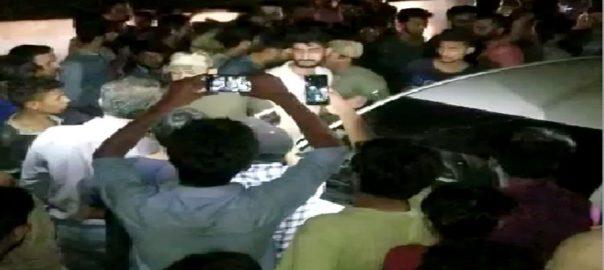 کراچی ، کارسوار، فائرنگ، 2 موٹر سائیکل سوار،زخمی، عینی شاہد ین، پولیس، 92 نیوز