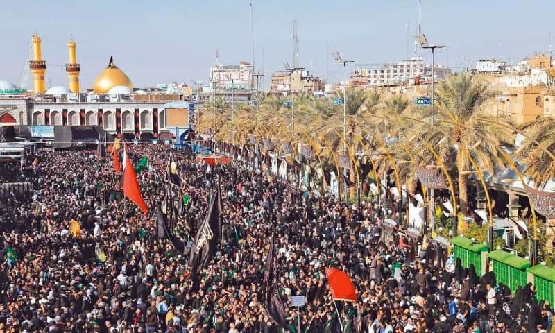 روضہ امام حسینؓ پر پاکستان سمیت دنیا بھر سے لاکھوں زائرین کی حاضری