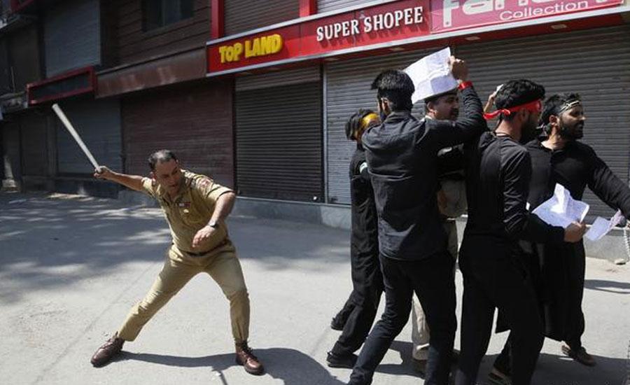 یوم عاشور،قابض فوج کا کشمیری عزاداروں پر بہیمانہ تشدد ،درجنوں گرفتار
