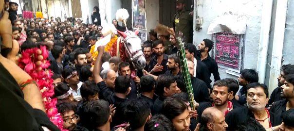 لاہور ، شبیہ ذوالجناح ، مرکزی جلوس،روایتی راستوں، رواں دواں ،92 نیوز