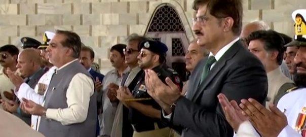 گورنر  وزیر اعلیٰ سندھ  مزار قائد  فاتحہ خوانی  کراچی  92 نیوز بابائے قوم  قائد اعظم محمد علی جناح