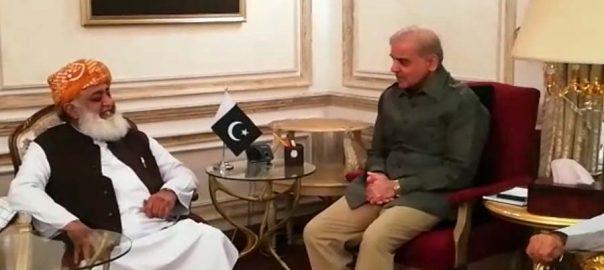 مولانا فضل الرحمان  شہباز شریف  سیاسی صورتحال لاہور  92 نیوز جمعیت علماء اسلام  پاکستان مسلم لیگ ن