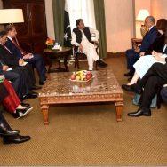 وزیر اعظم امریکی نمائندہ خصوصی نیو یارک  92 نیوز عمران خان س زلمے خلیل زاد