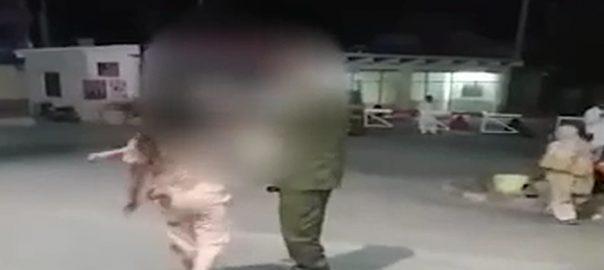 نشے پولیس افسر تھپڑ جڑ دیا رحیم یارخان  92 نیوز