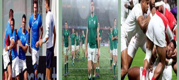 رگبی ورلڈ کپ  آئر لینڈ  انگلینڈ  اٹلی  ٹوکیو  92 نیوز جاپان