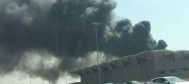 جدہ ، حرمین ہائی اسپیڈ ریل اسٹیشن ،آتشزدگی، قابو سے باہر، 5 افراد زخمی، 92 نیوز