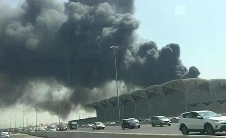جدہ، حرمین ہائی اسپیڈ ریل اسٹیشن آتشزدگی قابو سے باہر، 5 افراد زخمی