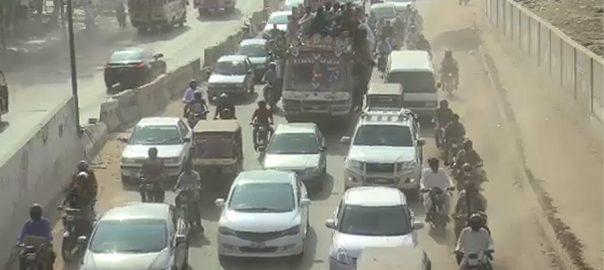 سڑکوں کی خستہ حالی  ٹریفک جام  کراچی  92 نیوز  پاکستان  معاشی حب  ٹریفک پولیس