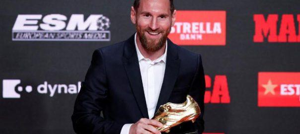 لیونل میسی ، چھٹی ، یورپین گولڈن شو ایوارڈ ، حاصل ، فٹبالر