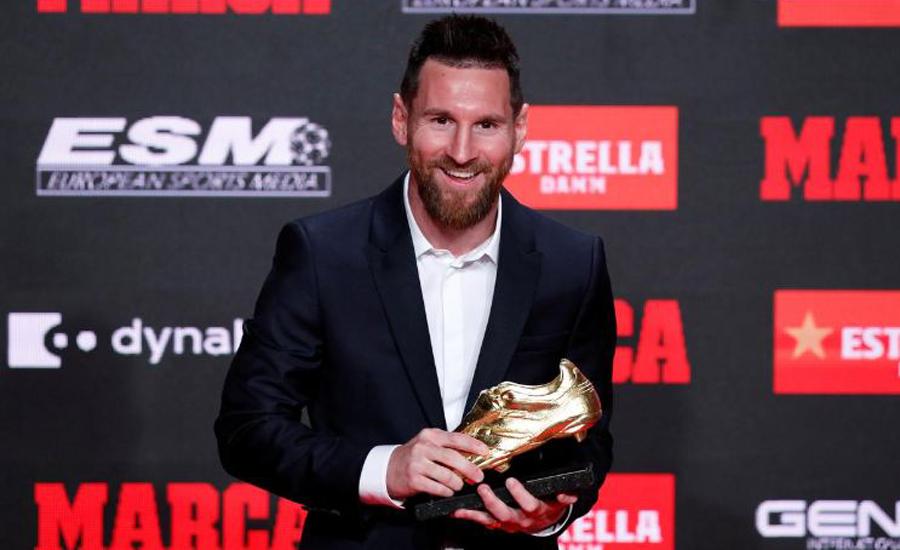 لیونل میسی چھٹی بار یورپین گولڈن شو ایوارڈ حاصل کرنیوالے فٹبالر بن گئے