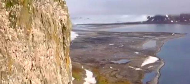 روس  گلیشیئرز  نئے جزیرے دریافت ماسکو  92 نیوز آرکٹک  فٹ بال 
