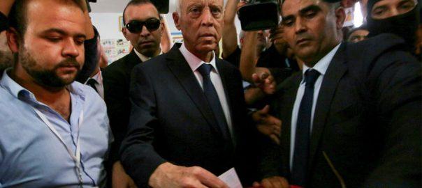 تیونس صدارتی انتخابات، قیس سعید ،نبیل القروی، واضح اکثریت ، شکست،تونس،92نیوز