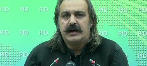 مولانا فضل الرحمن بلیک میلنگ علی امین گنڈاپور اسلام آباد  92 نیوز وفاقی وزیر  امور کشمیر  گلگت بلتستان 