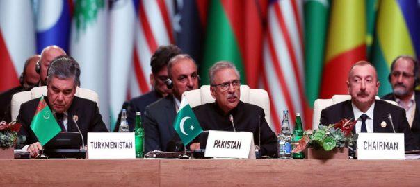 مقبوضہ کشمیر، بھارت، یکطرفہ اقدامات، غیر قانونی، صدر عارف علوی، باکو، 92 نیوز