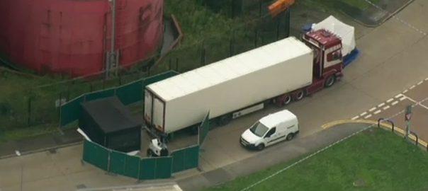 برطانیہ ، جنوب مشرقی ، ٹرک کنٹینر ، 39 لاشیں ، ملی
