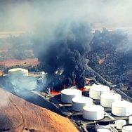 کیلیفورنیا  تیل کے ذخیرے  آگ بھڑک اٹھی  92 نیوز