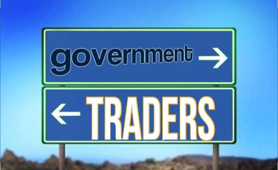 حکومت نے تاجروں کو ڈرانے کی پالیسی اختیار کرنیکا فیصلہ کرلیا