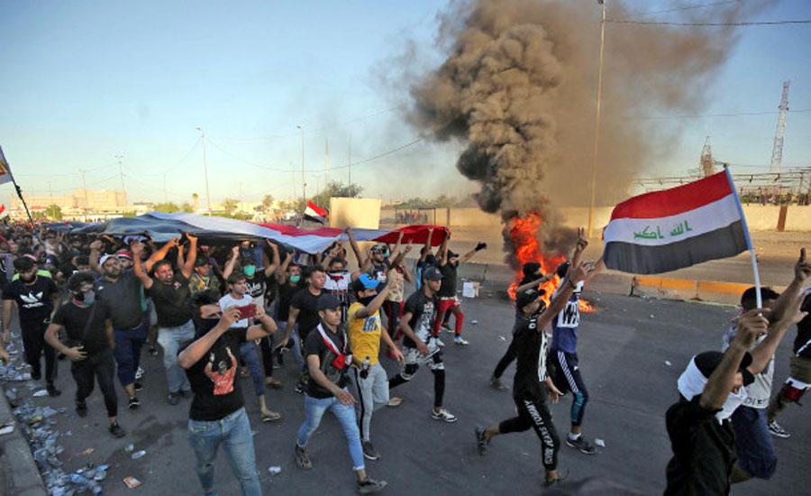 عراق میں حکومت مخالف مظاہرے، ہلاکتیں 112 ہوگئیں