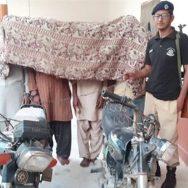 شہر قائد  پولیس کی کارروائی  جرائم پیشہ افراد کراچی  92 نیوز  مومن آباد سائٹ ایریا