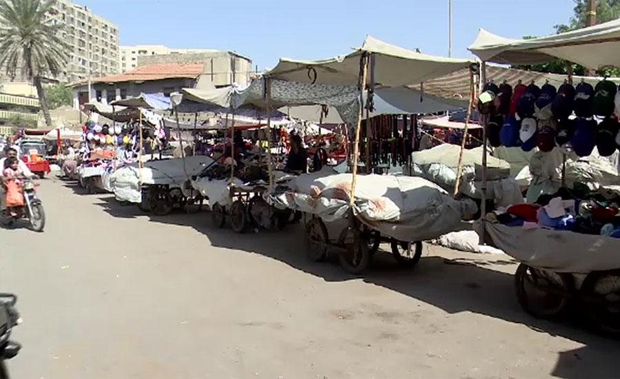کراچی میں سڑکوں پر پتھارا مافیا کا راج تاحال برقرار