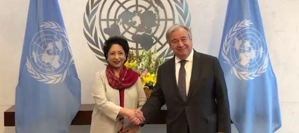 ملیحہ لودھی ، اقوام متحدہ ، پاکستان ، ساکھ ، بڑھانے ، کردار ، انتونیو گوتیرس