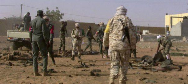 مالی، شدت پسندوں، 2 فوجی کیمپوں، حملہ، 25 اہلکار ہلاک، بماکو، 92 نیوز
