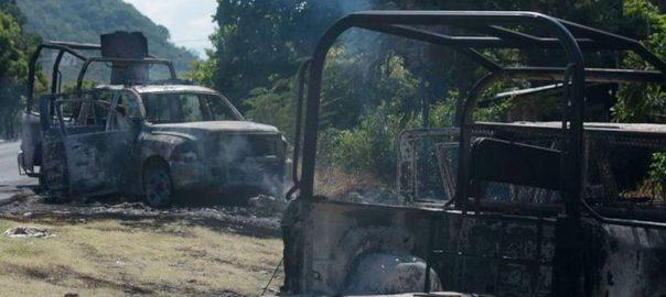 میکسیکو، مسلح افراد، پولیس پر حملہ، 14 اہلکار ہلاک، 92 نیوز