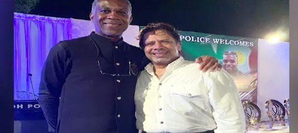 مائیکل ہولڈنگ، اعزاز، سندھ پولیس، پروقار تقریب، کراچی، 92 نیوز