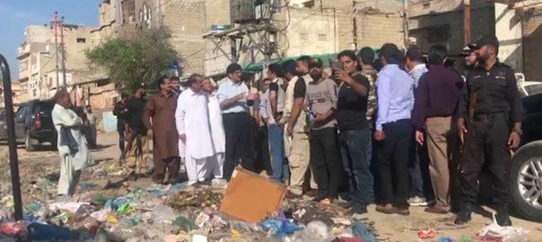 وزیر اعلیٰ سندھ ، کراچی ، علاقوں ، دورہ، کچرے ، موجودگی ، برہمی ، اظہار ، چھٹی ، مراد علی شاہ