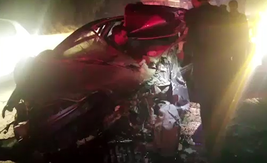مریدکے ، جی ٹی روڈ پر کار ،ٹرک کی زد میں آگئی ، ایک شخص جاں بحق