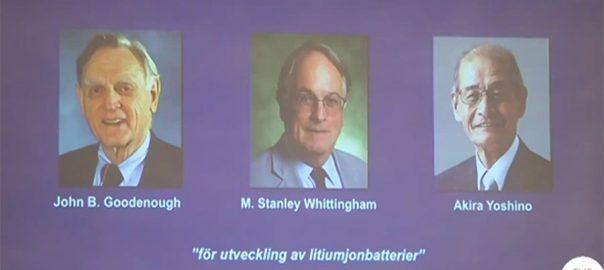 کیمیا ، شعبے ، 2019 ، نوبل انعام ، اعلان